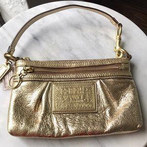 Coach Gold Wallet/Wristlet